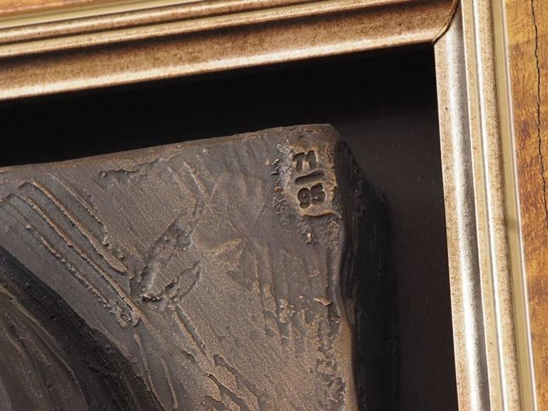 Bill Mack, Large Bonded Bronze Relief  In Excellent Condition For Sale In Bridgeport, CT