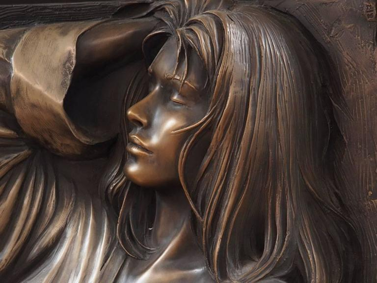 Mid-Century Modern Bill Mack, Large Bonded Bronze Relief  For Sale