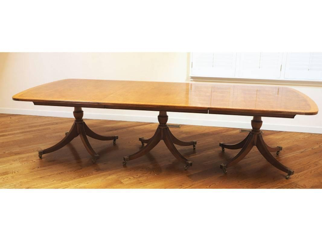 Smith and watson ny massive 16 foot dining table for sale for Most beautiful dining room tables