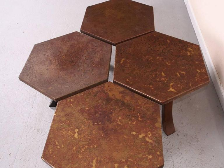 Suite of Four Hexagonal Tables by Harvey Probber In Good Condition For Sale In Bridgeport, CT