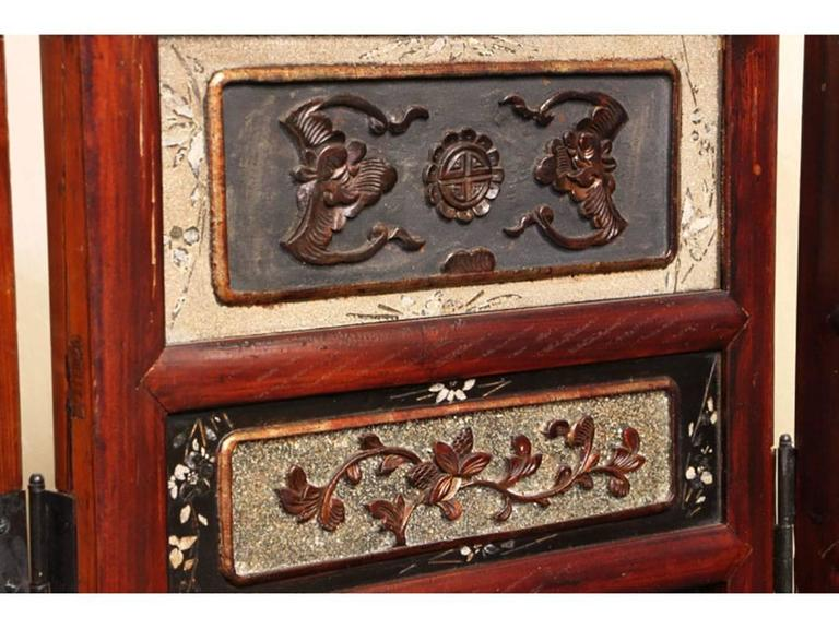 Chinese Export Antique Chinese Eight-Panel Screen