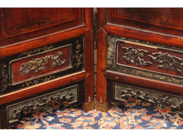 Antique Chinese Eight-Panel Screen In Good Condition In Bridgeport, CT