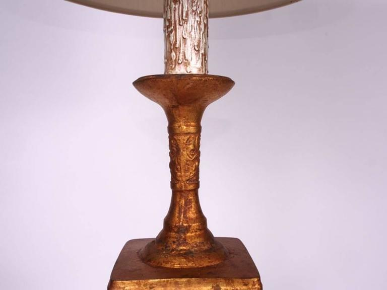 Mid-Century Sculpted Lamp in the Manner of James Mont 5
