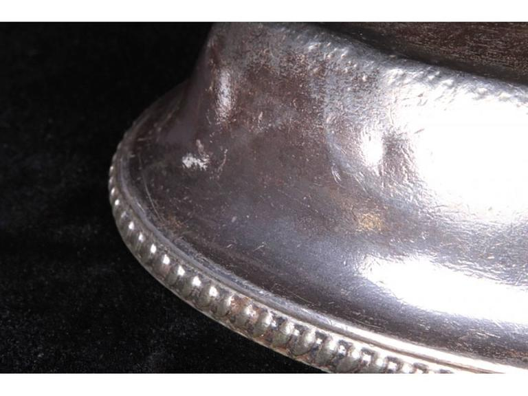 gorham silver soldered oval entree cover with caryle hotel