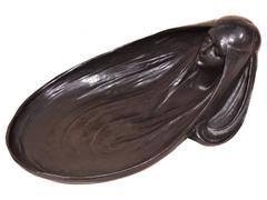 Gustave Gurschner Vide Poche Bronze Figural Dish