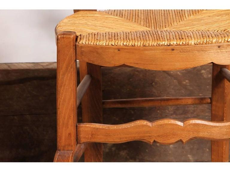 set of eight country french rush seat chairs at 1stdibs