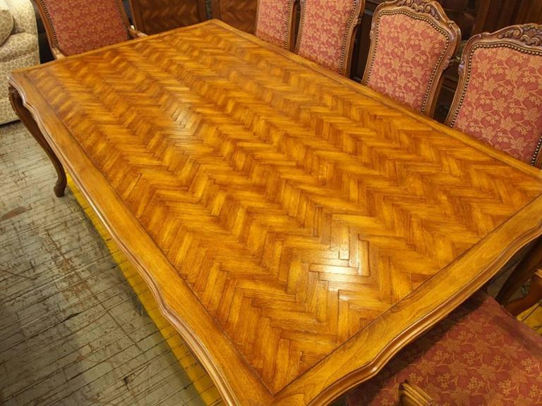 Fremarc Trestle Table Monumental Sheraton Threepart Dining Room - Fremarc dining table