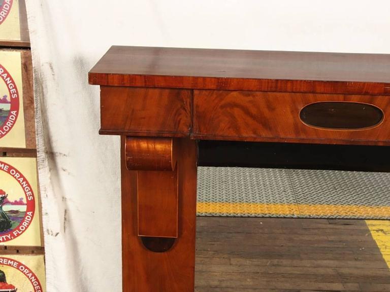 Benoist Reclaimed Wood Vanity Mirror: Pair Of Massive Antique Danish Biedermeier Pier Console