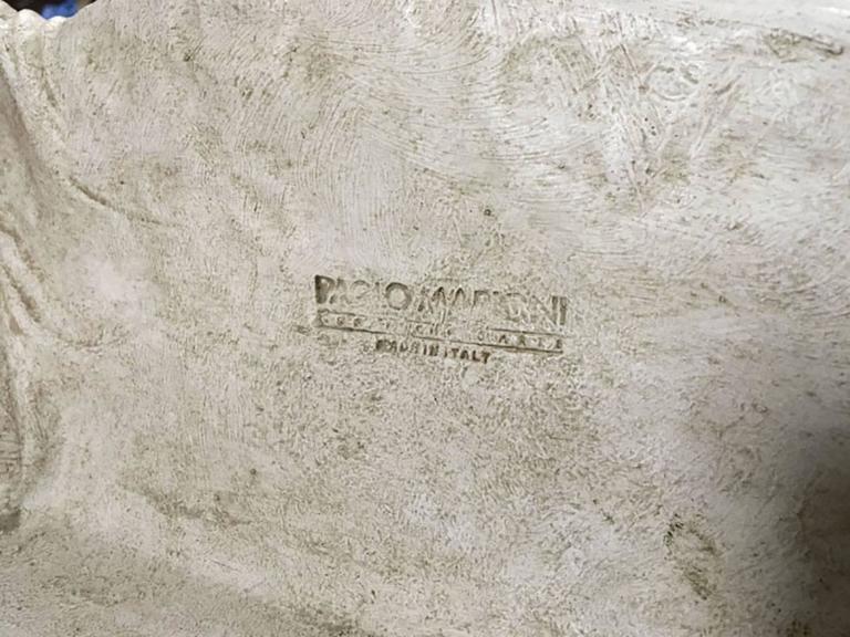 Impressive Paolo Marioni Ceramiche D'arte Relief Horse Plaque In Good Condition For Sale In Bridgeport, CT