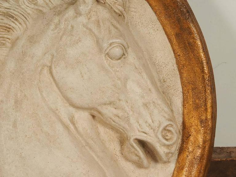 20th Century Impressive Paolo Marioni Ceramiche D'arte Relief Horse Plaque For Sale