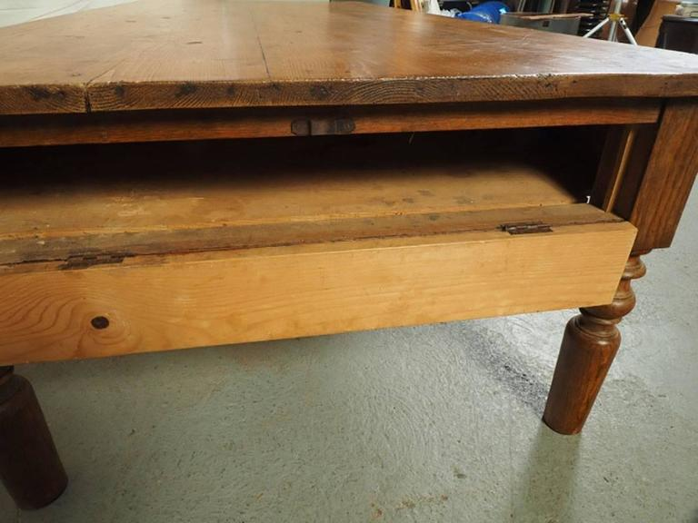 Antique Farm Coffee Table For Sale at 1stdibs