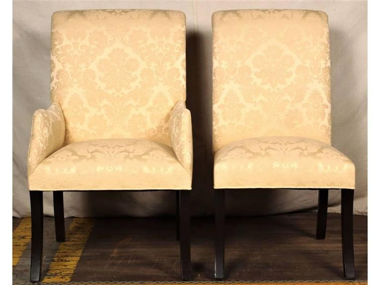 Set of Eight Quality Hollywood Regency Dining Chairs In Good Condition For Sale In Bridgeport, CT