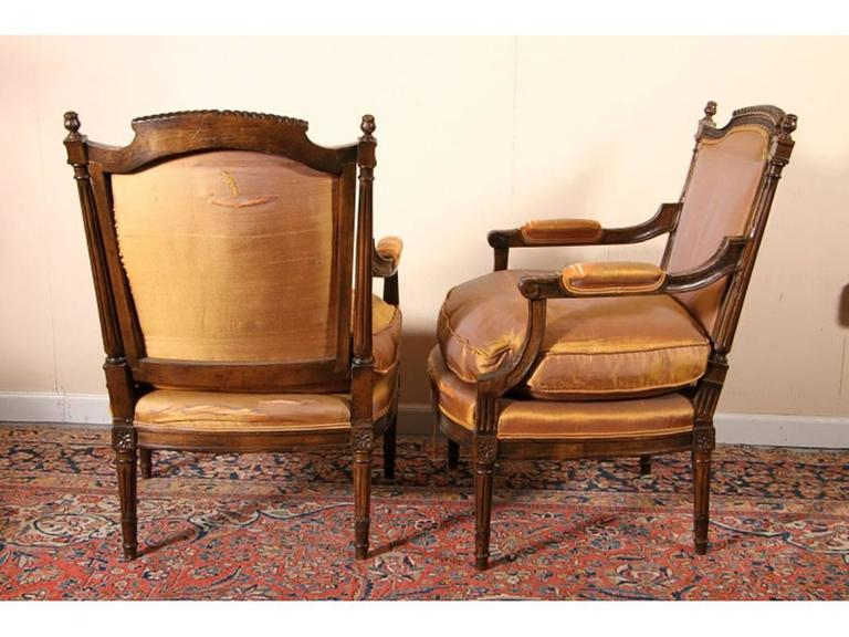 pair of carved fauteuils in napoleon iii style at 1stdibs. Black Bedroom Furniture Sets. Home Design Ideas
