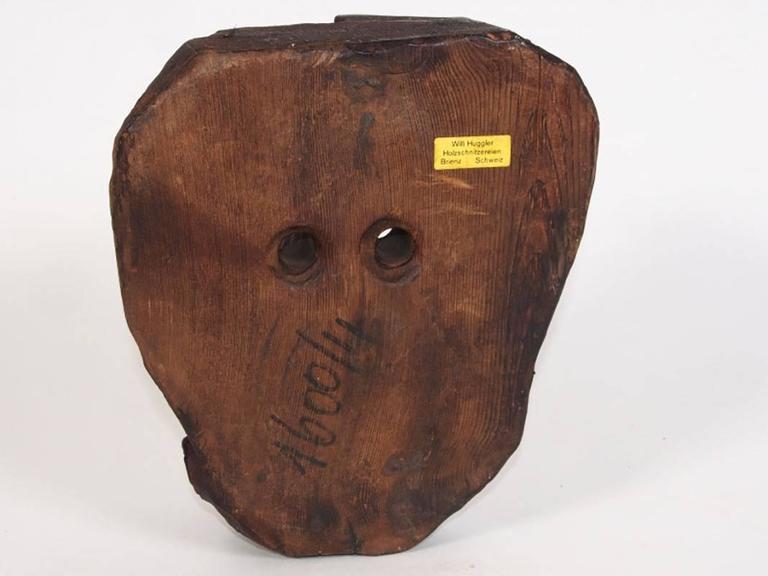 d10132f5b7f Willi Huggler Carved Wood Mask For Sale at 1stdibs