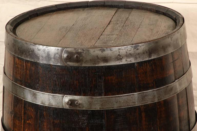 Vintage Oak Wine Barrel At 1stdibs