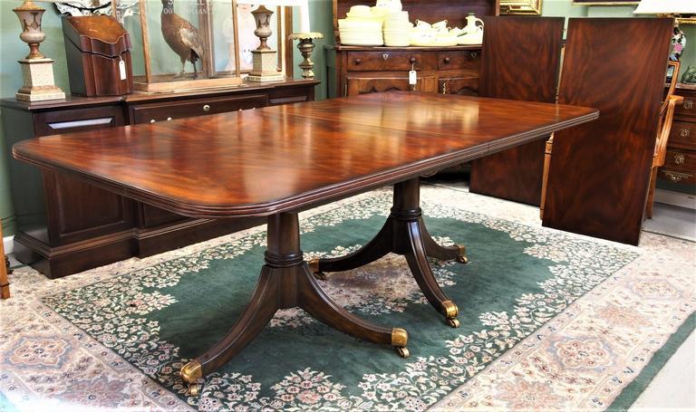Maitland Smith Double Pedestal Mahogany Dining Table At
