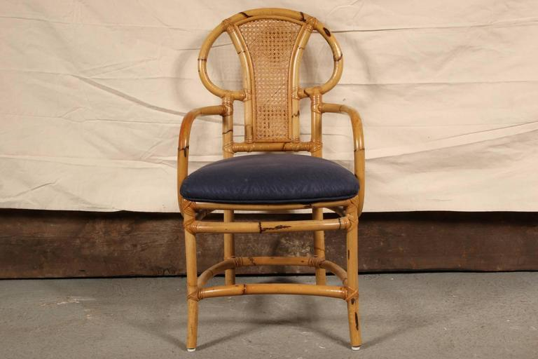 Rattan Table and Chair Set by Willow and Reed In Good Condition For Sale In Bridgeport, CT