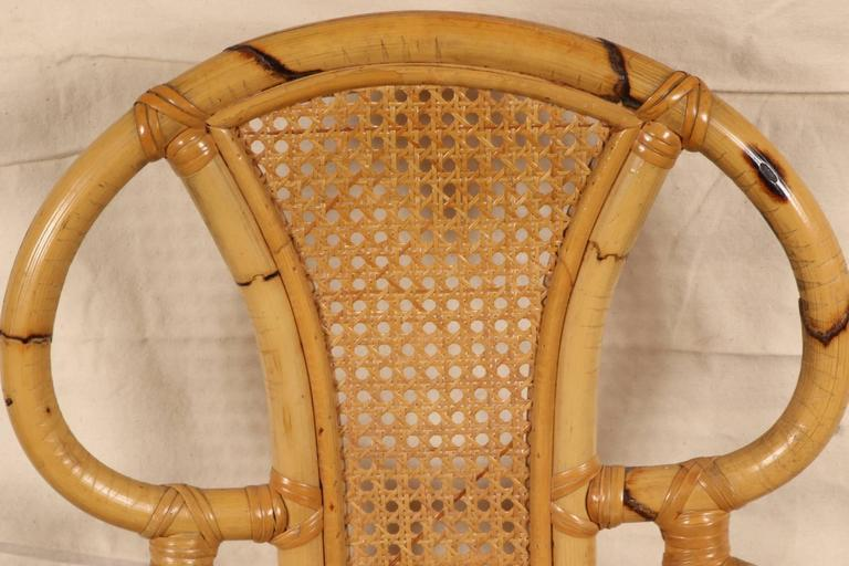 Rattan Table and Chair Set by Willow and Reed For Sale 3