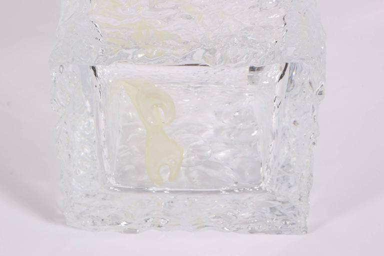 Modern Lucite Ice Bucket In Block Of Ice Form For Sale At