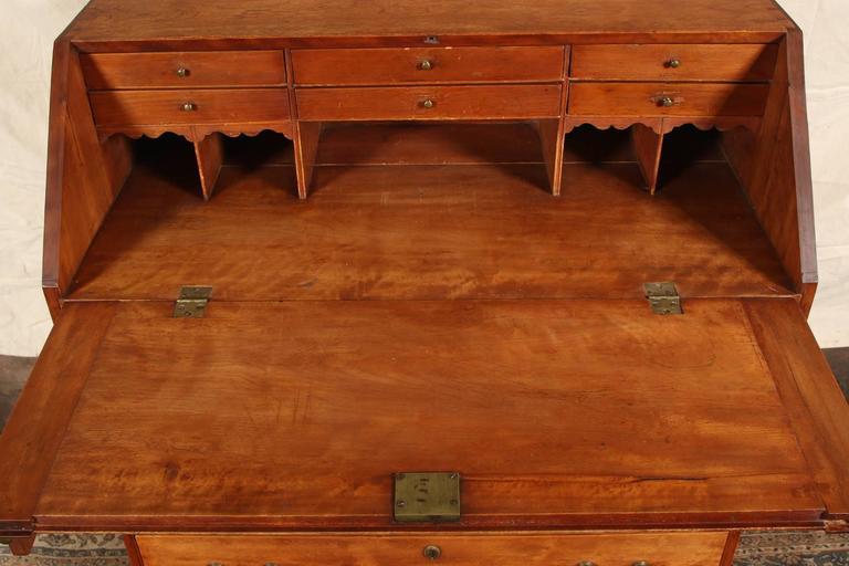 Antique American Slant Front Desk For Sale 2 - Antique American Slant Front Desk At 1stdibs