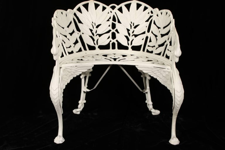High Victorian Cast Iron Garden Seat For Sale