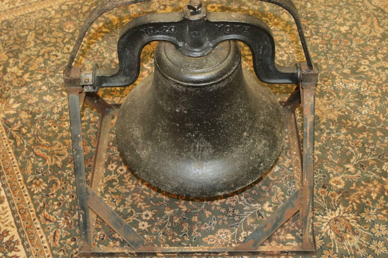 Antique C.S. Bell & Co. Cast Iron Bell on Stand 10
