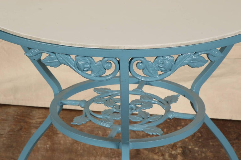 Vintage Three Piece Wrought Iron Patio Set For Sale At 1stdibs