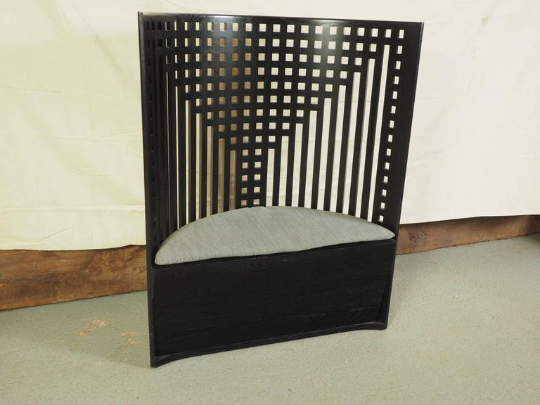 charles rennie mackintosh design demilune willow chair at 1stdibs. Black Bedroom Furniture Sets. Home Design Ideas