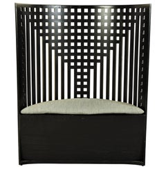 Charles Rennie Mackintosh Design Demilune Willow Chair