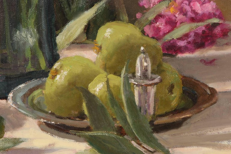 American Mitch Bilis Oil on Canvas Still Life For Sale