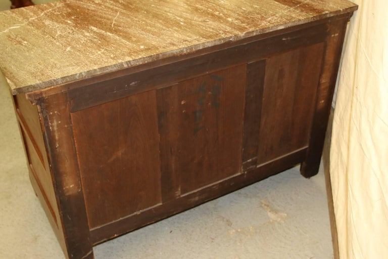 Victorian Marble Top Dresser Chest And Bedstead For Sale