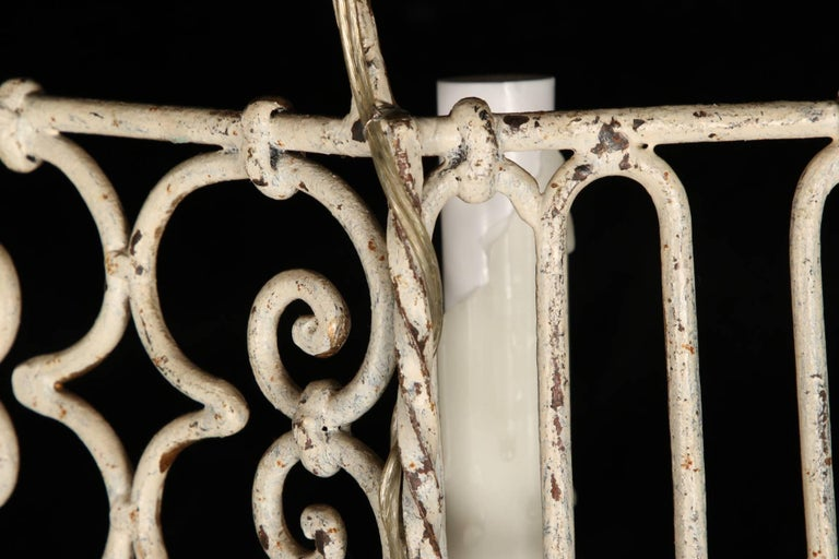 Pair of Hand-Wrought Iron Sconces For Sale 2