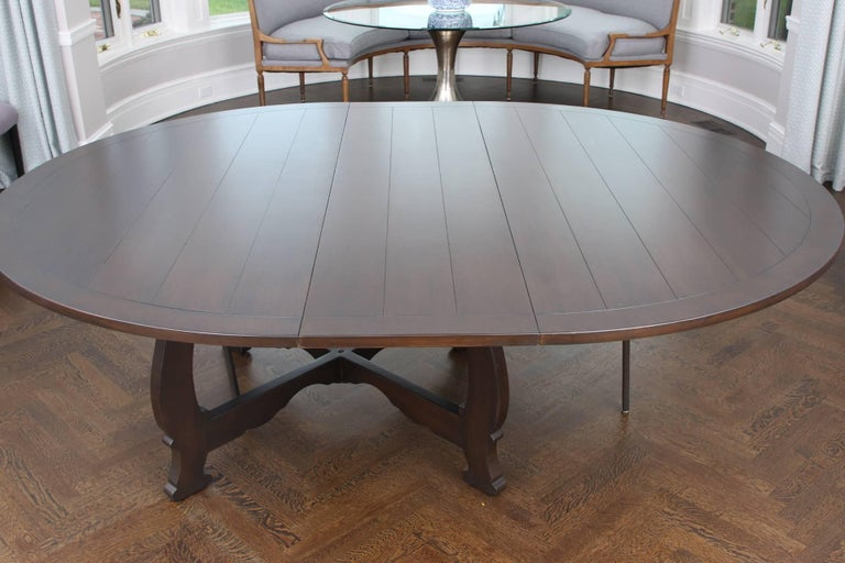 Large Scale Round Dining Table For Sale At 1stdibs