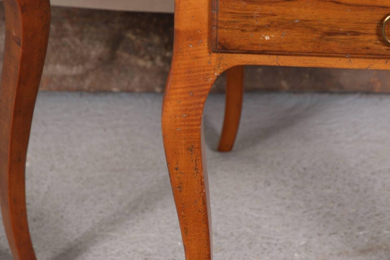 Pair of Italian Leather Top Side Tables For Sale 2