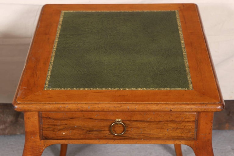 Pair of Italian Leather Top Side Tables For Sale 3