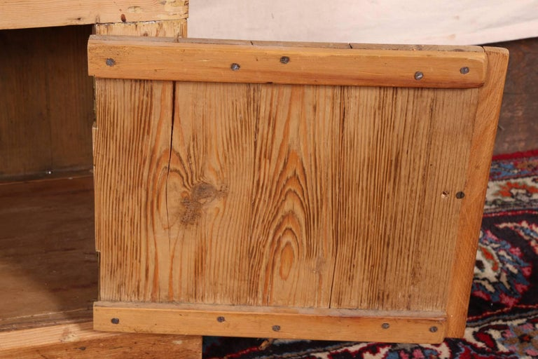 Rare Child's Size Antique Carved Pine Stepback Cupboard For Sale 5