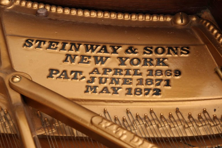 85 Key Antique Steinway Grand Piano, circa 1873 For Sale 3
