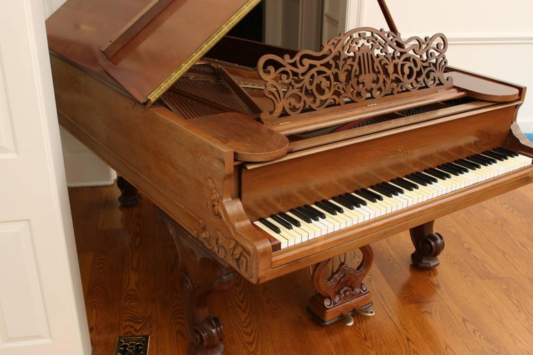 85 Key Antique Steinway Grand Piano, circa 1873 For Sale 1