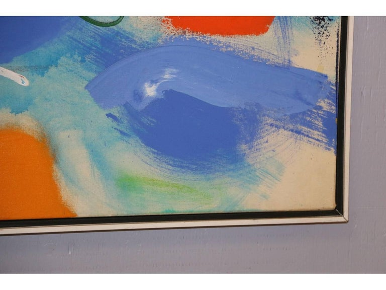 20th Century Modern Abstract, Oil on Canvas, Signed on Verso For Sale
