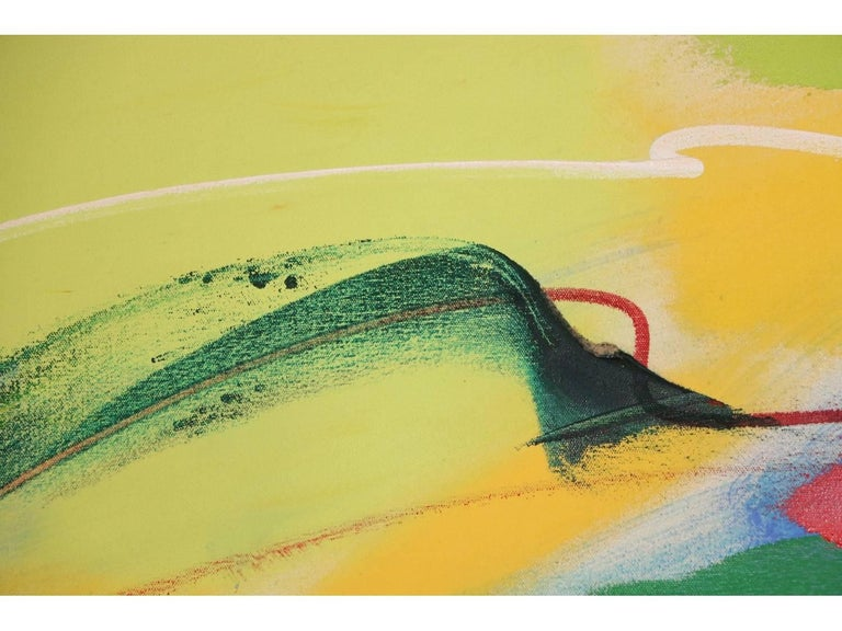 Modern Abstract, Oil on Canvas, Signed on Verso For Sale 2