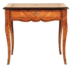 19th Century French Leather Top Table