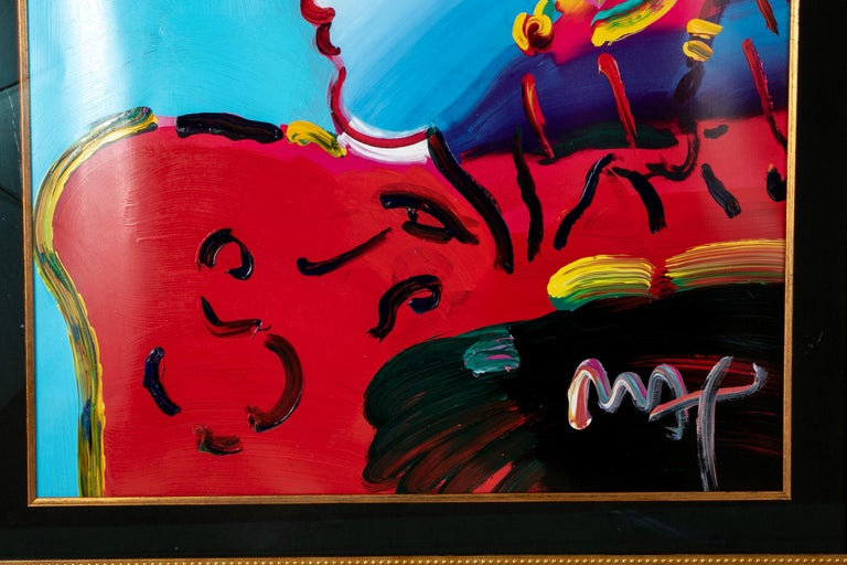 20th Century Peter Max Mixed-Media,