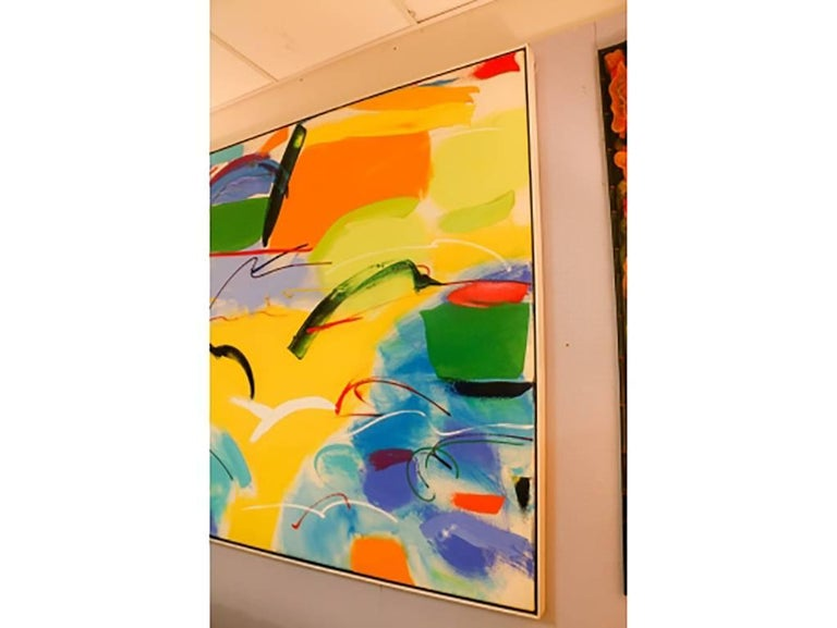 Modern Abstract, Oil on Canvas, Signed on Verso For Sale 3