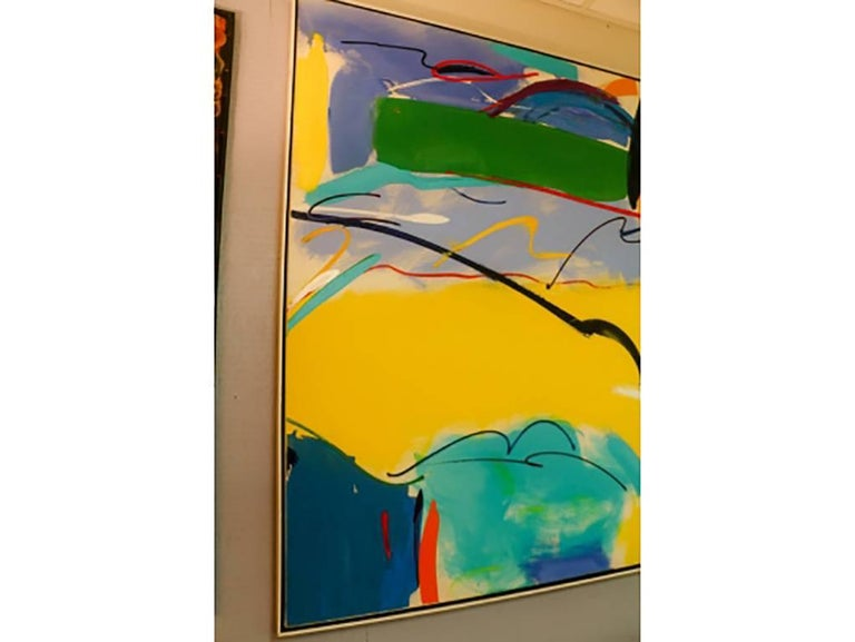 Modern Abstract, Oil on Canvas, Signed on Verso For Sale 4