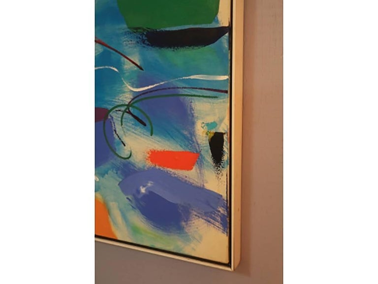 Modern Abstract, Oil on Canvas, Signed on Verso For Sale 6