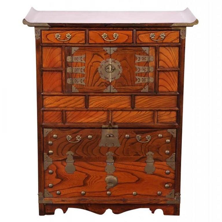 Antique Korean Tansu Cabinet