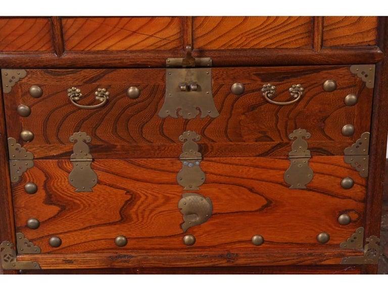 20th Century Antique Korean Tansu Cabinet