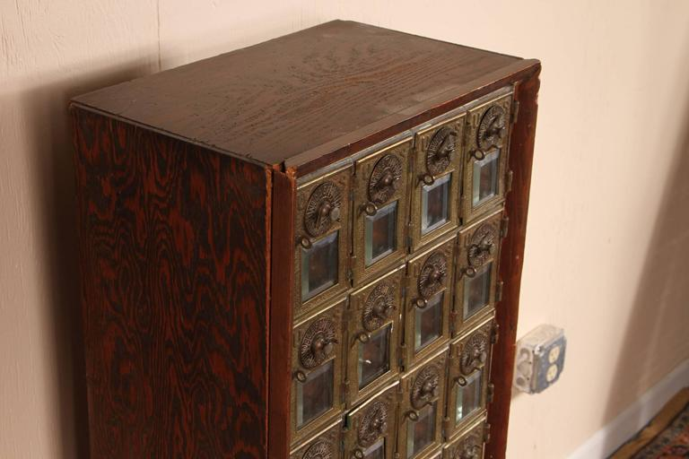 Antique 45 Door Post Office Mail Box At 1stdibs