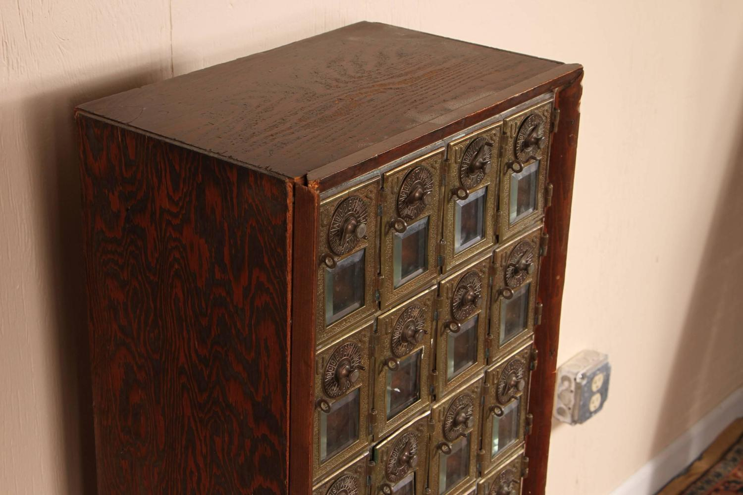 Antique 45 Door Post Office Mail Box For Sale At 1stdibs