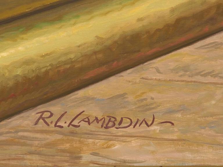 Robert Lynn Lambdin Bridgeport Brass Murals, Nine Panels 4